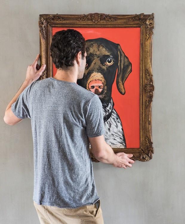 Cachorros aparecem em diversos pontos da casa (Foto: Lufe Gomes / Editora Globo)