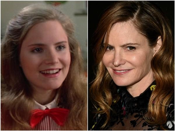 Jennifer Jason Leigh em 1982 e 2014 (Foto: Divulgação/Getty Images)