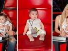 Filho de Shakira vai aos estúdios do 'The Voice' e ganha chamego da mãe