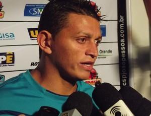 Ferreira, goleiro do CSP (Foto: Silas Batista / Globoesporte.com/pb)