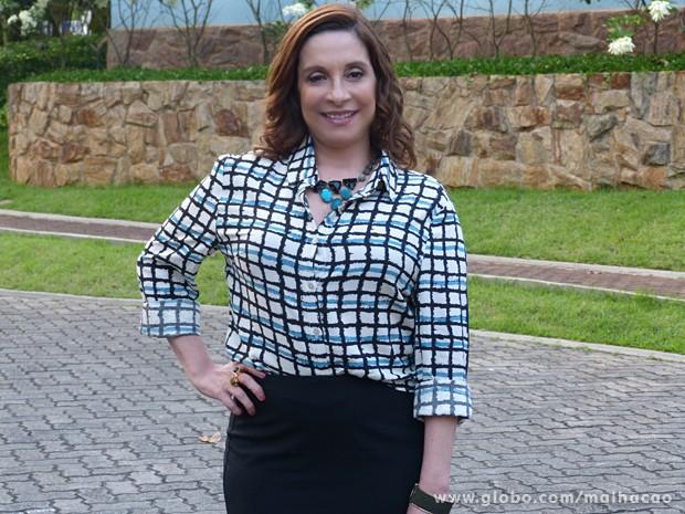 Bia Nunes interpreta Marinalva, dona de uma rede de supermercados  (Foto: Malhação / TV Globo)