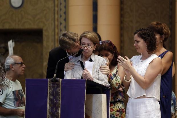 Missa Marília Pêra - Fernanda Montenegro (Foto: Marcos Serra Lima/ EGO)