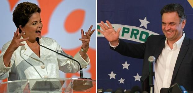 Montagem wide 3 eleições primeiro turno - Dilma Rousseff e Aécio Neves