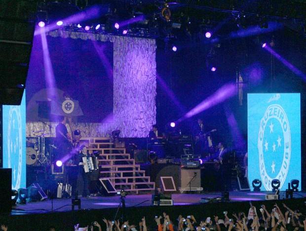 Gusttavo Lima, Cruzeiro, show (Foto: Maurício Paulucci / Globoesporte.com)