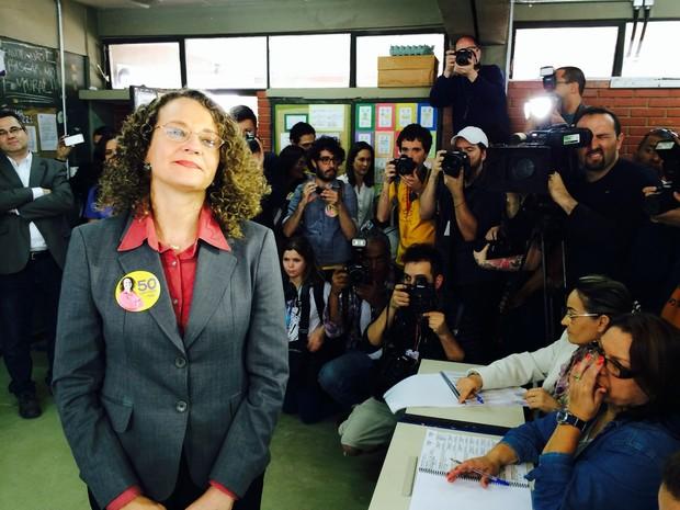 Luciana Genro Porto Alegre eleições (Foto: Daniel Bittencourt/G1)