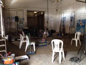 Grupo ocupou o espaço neste domingo (23) (Foto: Wellington Roberto/G1)