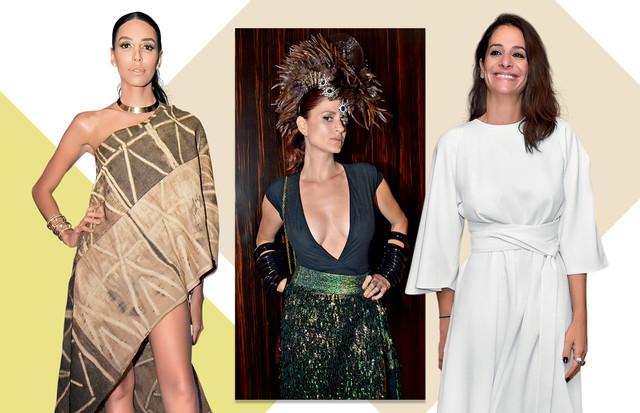 lea T, Giuliana Romano e Paula Raia (Foto:  Daniel Mattar/ Arquivo Vogue e Divulgação)