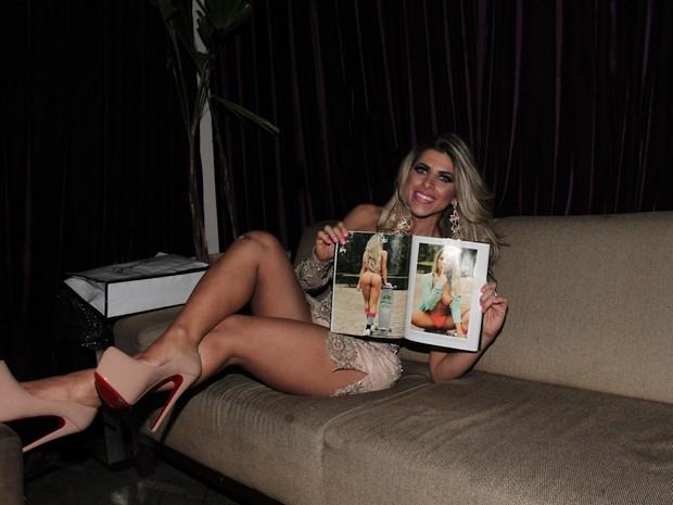 Ana Paula Minerato em festa em São Paulo (Foto: Cláudio Augusto/ Foto Rio News)