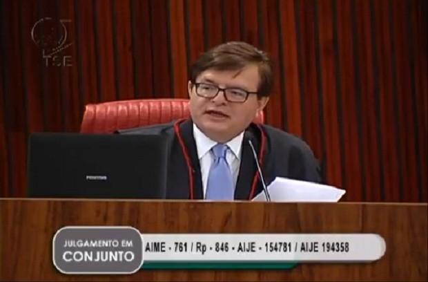 Herman Benjamin, relator do julgamento da cassação da chapa Dilma-Temer (Foto: Reprodução)