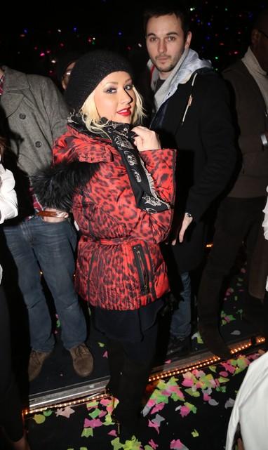 Christina Aguilera em festa de réveillon em Nova York, nos Estados Unidos (Foto: Johnny Nunez/ Getty Images/ Agência)