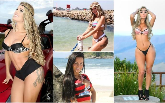 Modelo Thalita Zampirolli torce para o Estrela do Norte, no ES, e também para o Flamengo (Foto: Divulgação/Arquivo Pessoal)