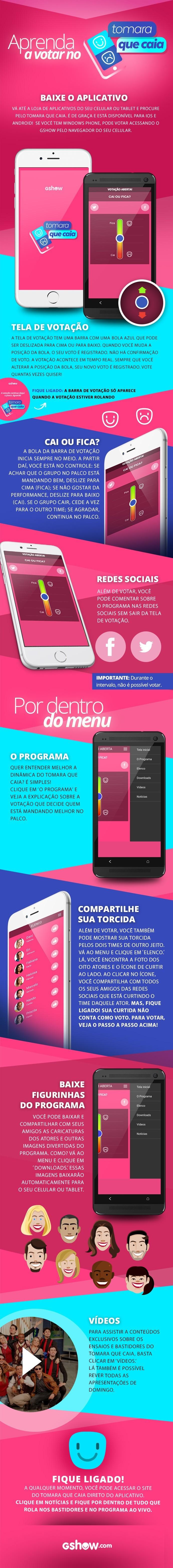 Siga o tutorial e veja como baixar o aplicativo de Tomara que Caia. Participe do programa! (Foto: Gshow)
