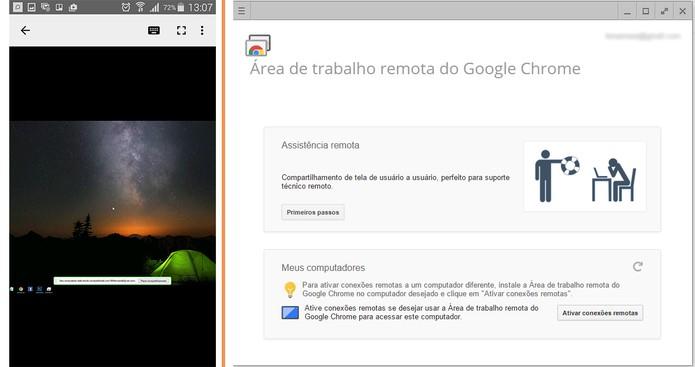 Acesso remoto do computador com Windows 10 pelo Android usando app do Google (Foto: Reprodução/Barbara Mannara)