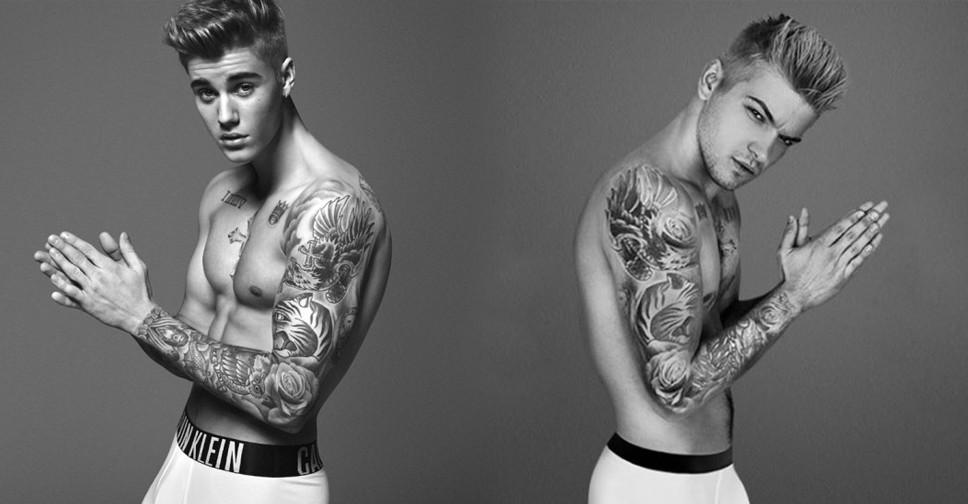 Johnny Rapid imitou at as tatuagens para ficar mais parecido com Justin Bieber (Foto: Reproduo)