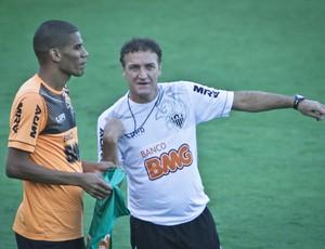 Leonardo Silva; Cuca; Atlético-MG; Cidade do Galo, treino (Foto: Bruno Cantini / Site Oficial do Atlético-MG)