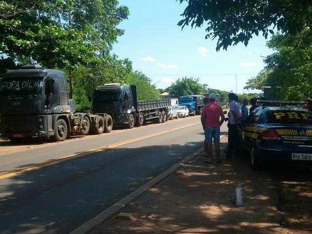 Movimentação em rodovia federal (Foto: Maria Caroline Palieraqui/G1 MS)