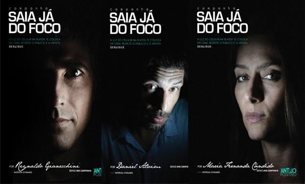 Daniel Alvim, Reynaldo Gianecchini e Maria Fernanda Cândido estão na campanha (Foto: Ruy Filho)