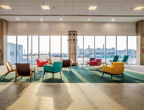 Sala do Aeroporto Internacional Tom Jobim (Foto: Thiago Saramago/Divulgação)