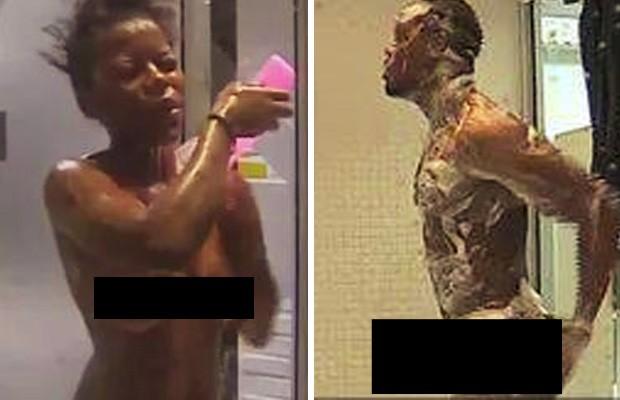 Vídeos exclusivos exibem participantes tomando banho e em outros momentos de intimidade (Foto: Reprodução/Facebook/Big Brother Africa Shower Hour)