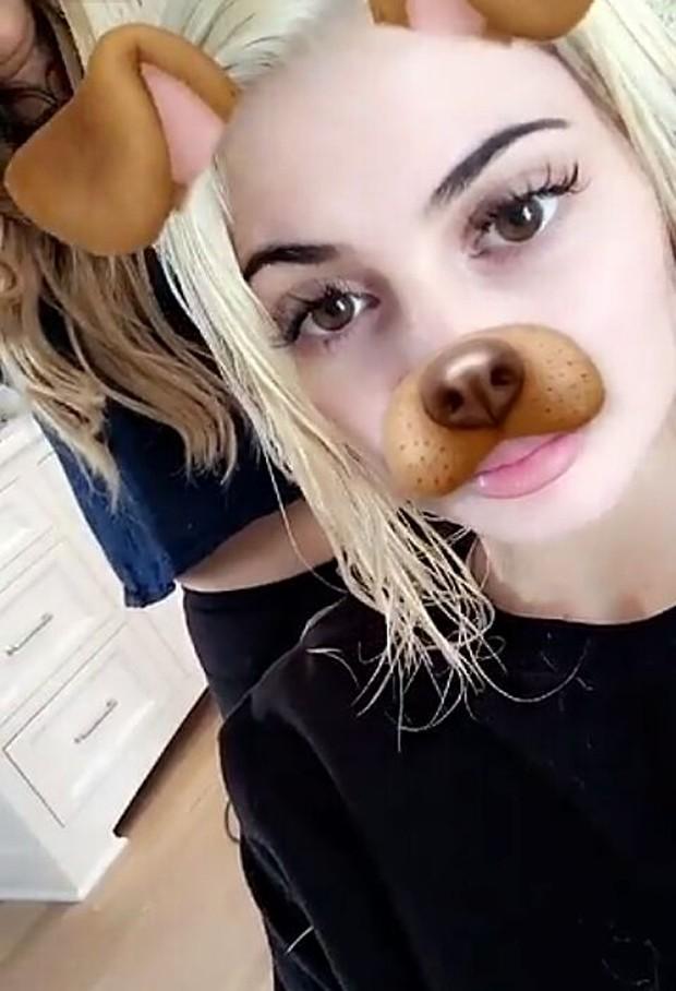 Kylie Jenner (Foto: snapchat/reprodução)