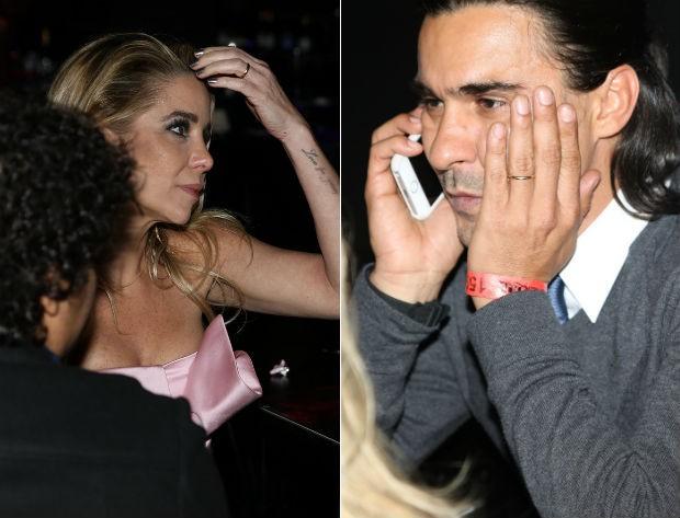Danielle Winits e André Gonçalves exibem aliança na mão esquerda (Foto: Thiago Duran/Agnews)