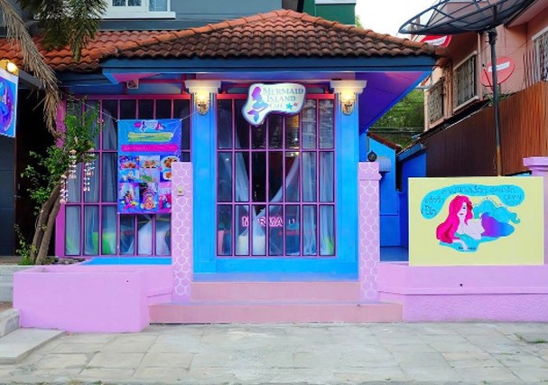 Mermaid Island Café, localizado em Pathum Thani, na Tailândia (Foto: Instagram/Reprodução)