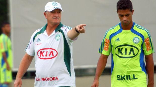 Scolari Felipão Ricardo Bueno Palmeiras (Foto: Anderson Rodrigues / globoesporte.com)