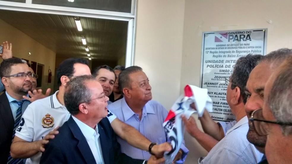 Momento da inauguração da UIP de Oriximiná (Foto: Márcio Garcia/Oriximiná)