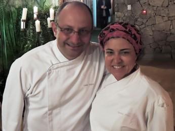 Chefs Celso Freire, do Paraná, e Tereza Paim, da Bahia (Foto: Renato Lobato/G1)