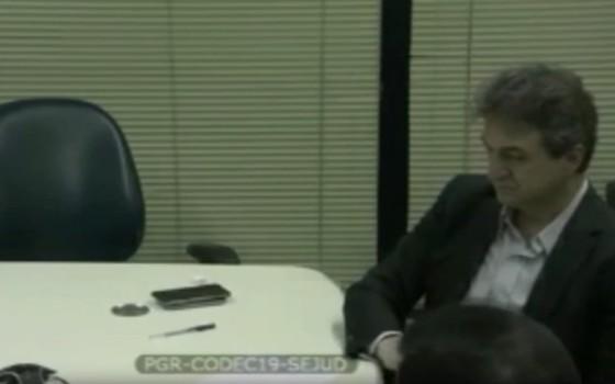 Joesley Batista, durante depoimento ao Ministério Público no Paraná (Foto: Reprodução)