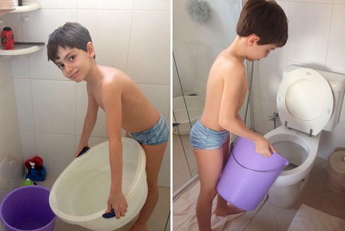 Dica de garoto de 8 anos faz prédio reduzir consumo de água pela 1ª vez no ano em São Paulo