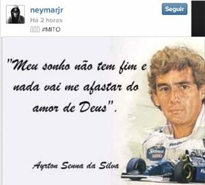 neymar senna homenagem (Foto: Reprodução )
