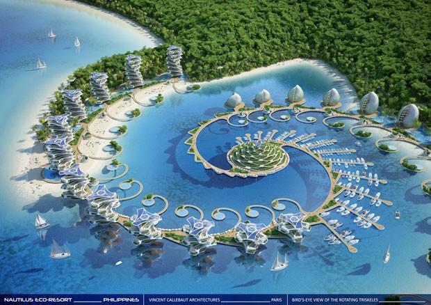 Eco resort nas filipinas tem edif cios que giram para for Designhotel island