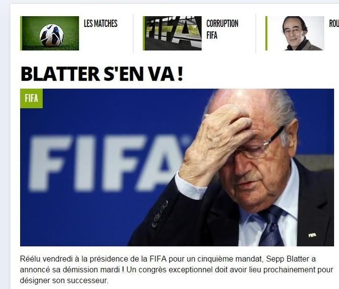 renúncia blatter fifa l'équipe (Foto: Reprodução)