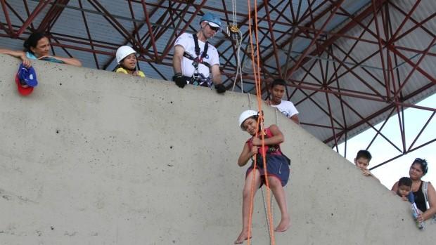 Rapel foi atividade esportivas destaque na Ação Global  2012 (Foto: Frank Cunha/Globoesporte.com)