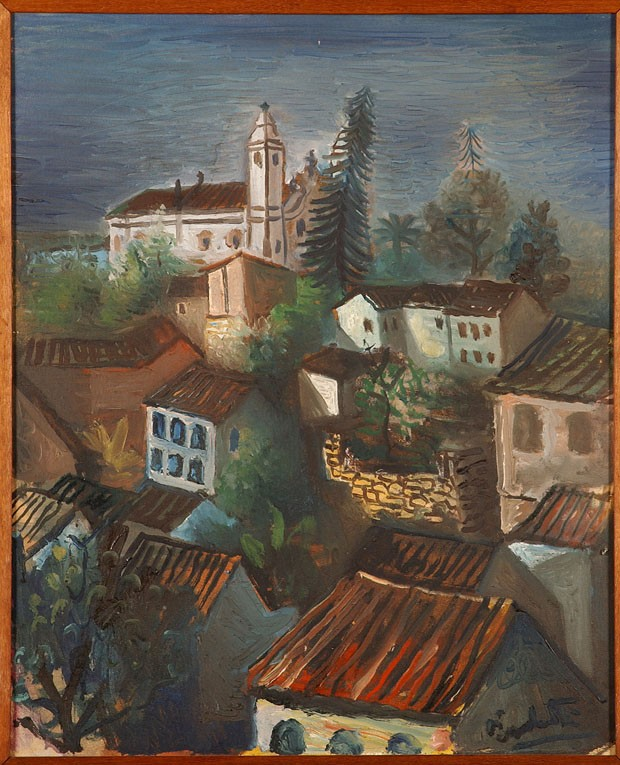 Vista de Casario, de Emiliano Di Cavalcanti, óleo sobre tela (Foto: Foto: Rômulo Fialdini)