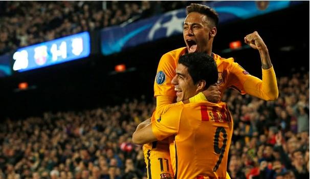 Atlético de Madrid e Barcelona se enfrentam pela Liga dos Campeões (Foto: Reprodução GE.com)