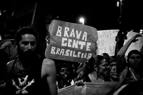 Bernardo numa manifestação de junho de 2013 (Foto: Reprodução da internet)