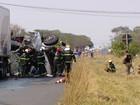 Motorista morre em Uberlândia ao bater em caminhão estacionado