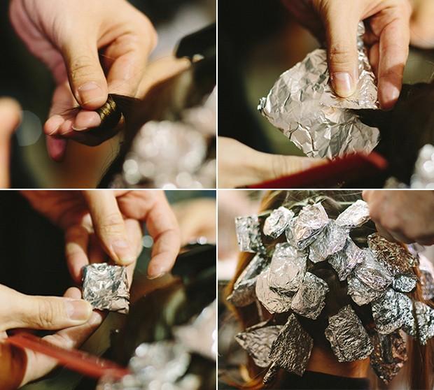 Papelote  truque para fazer os cachinhos. (Foto: Elisa Mendes)