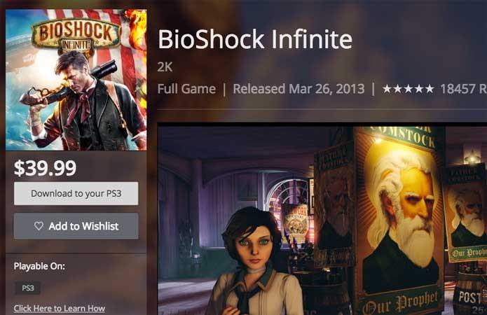BioShock Infinite no PS3 (Foto: Reprodução/Felipe Vinha)