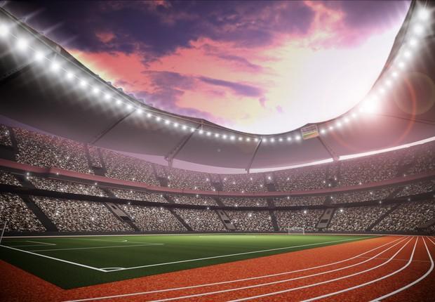 Estádio com pista de atletismo (Foto: Thinkstock)