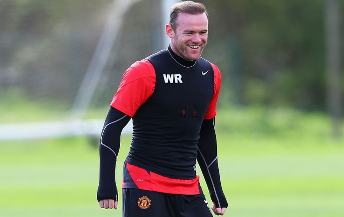 Manchester United treino Wayne Rooney (Foto: Getty Images)