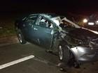 Família fica ferida após capotamento em rodovia de Marília