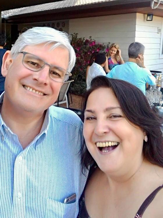 O procurador-geral da República, Rodrigo Janot, e a procuradora regional Janice Ascari (Foto: Reprodução/ Twitter Janice Ascari)