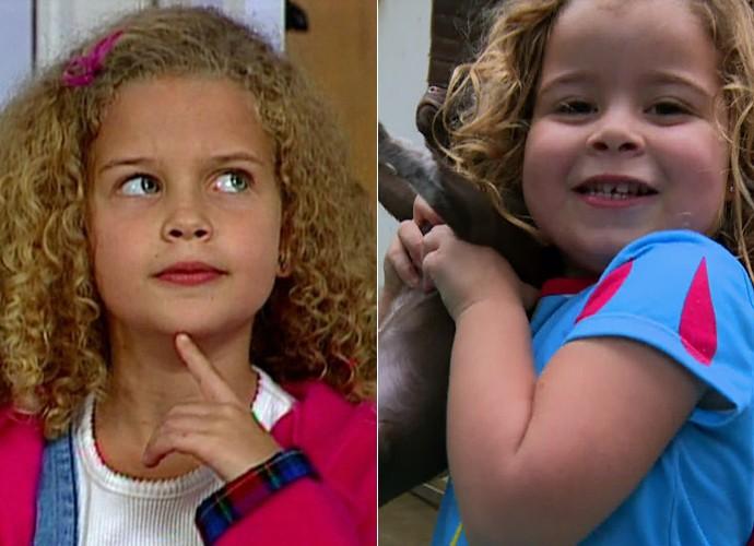 Duda e Debby quando era criança: fofura hereditária! (Foto: TV Globo)