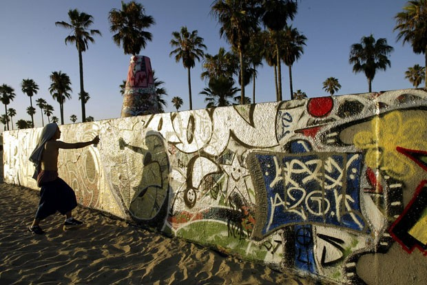Venice Beach, na Califórnia, reúne skate, surfe e grafite (Foto: Getty Images)