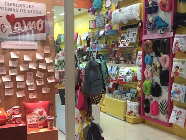 Loja decorada para o Dia dos Namorados (Foto: Divulgação/Approach)