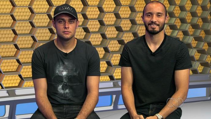 Renan e Pedro Henrique, goleiros de Goiás e Aparecidense (Foto: Reprodução/TV Anhanguera)