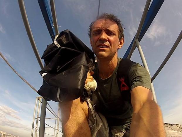 Piloto de windsuit morreu em queda no Espírito Santo (Foto: Reprodução/ Facebook)